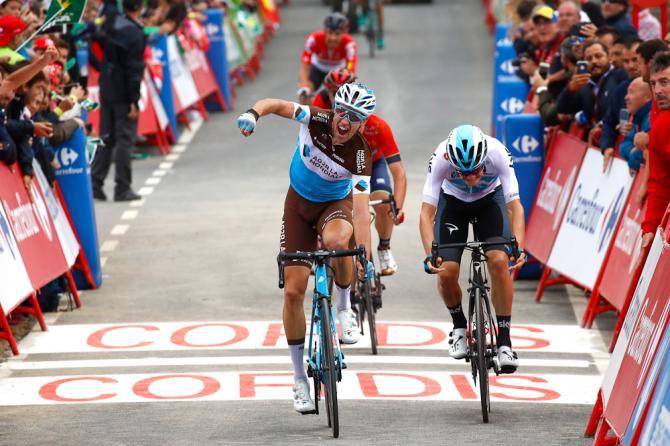 Alexandre Geniez (AG2R La Mondiale) wins stage 12 at the 2018 Vuelta