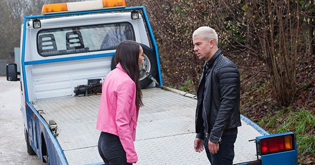Cleo McQueen calls Joel Dexter for help in what he believes an emergency in Hollyoaks.
