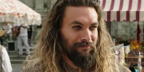 Aquaman trailer screenshot of Jason Momoa in Italy
