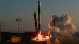 Firefly Aerospace's Alpha rocket lifts off on its debut launch from Vandenberg Space Force Base in California on Sept. 2, 2021. The rocket failed about 2 minutes, 30 seconds into the flight.