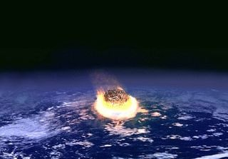 Asteroid Impact on Earth Illustration
