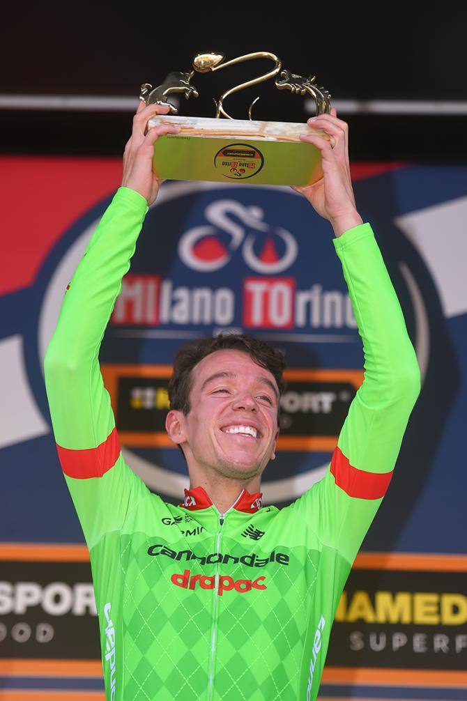 Rigoberto Uran on the Milano-Torino podium
