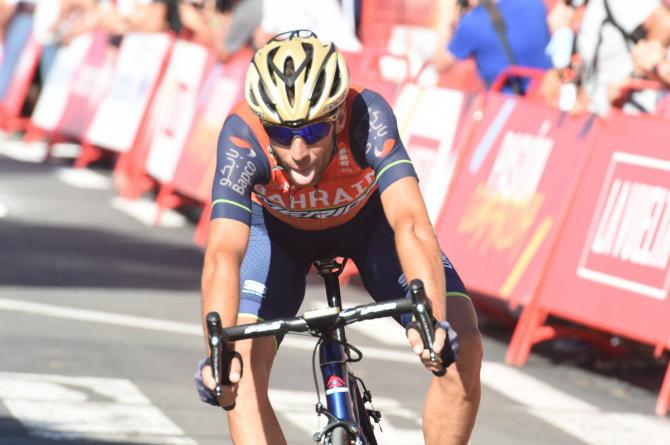 Vincenzo Nibali (Bahrain-Merida) crosses the line in tenth place