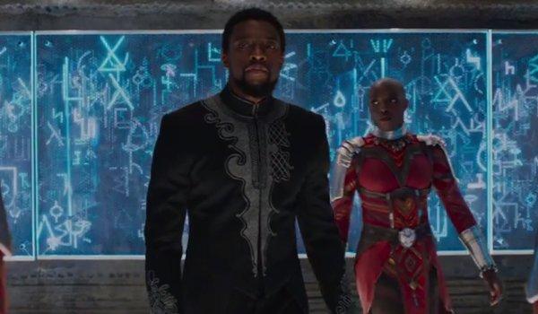 Chadwick Boseman Black Panther T'Challa Okoye Danai Gurira