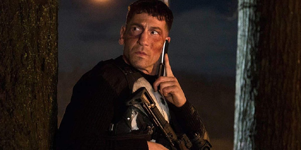Jon Bernthal as Frank Castle/Punisher in The Punisher.