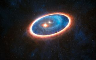 planets forming in a double star system