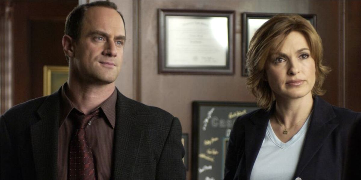 Christopher Meloni and Mariska Hargitay in Law and Order:SVU
