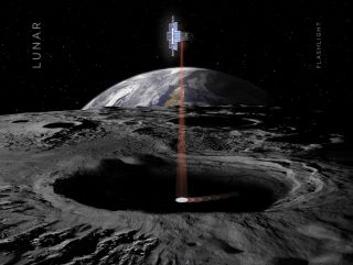 The Lunar Flashlight mission, selected by NASA's Advanced Exploration Systems, is a project from the Jet Propulsion Laboratory and the agency's Marshall Space Flight Center. In the mission, a cubesat would use lasers to look for water ice deep in lunar craters.