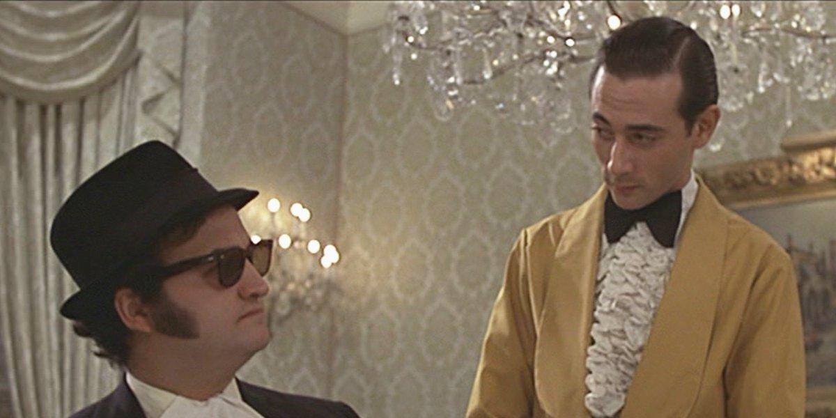 John Belushi and Paul Reubens in The Blues Brothers