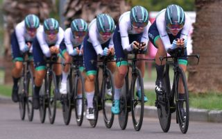 Equipe Paule Ka in action at the Giro Rosa
