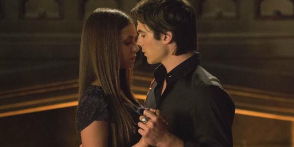 The Vampire Diaries Elena Damon Nina Dobrev Ian Somerhalder