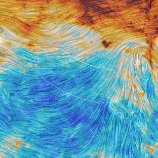This image by Europe's Planck satellite captures the same region of sky observed by the ground-based BICEP2 project. Planck data suggest that much of the signal the BICEP2 team interpreted as evidence of cosmic inflation was actually caused by interstella