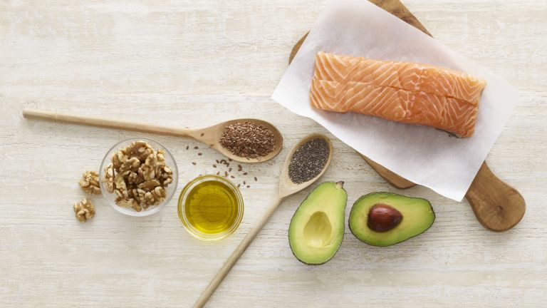 foods high in omega-3 like salmon and avocado