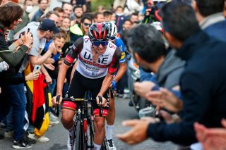 Tadej Pogacar pours on the pressure on the final climb at Il Lombardia