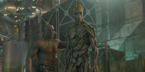 Groot and Drax together in Guardians of the Galaxy
