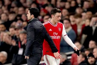 Mesut Ozil and manager Mikel Arteta look set to part ways.