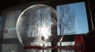 a freezing soap bubble