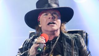 Axl Rose performing with AC/DC