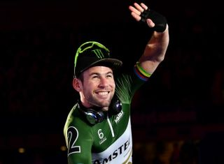 Mark Cavendish of Great Britain waves as he is introduced to the crowd on day four of the London Six Day Race