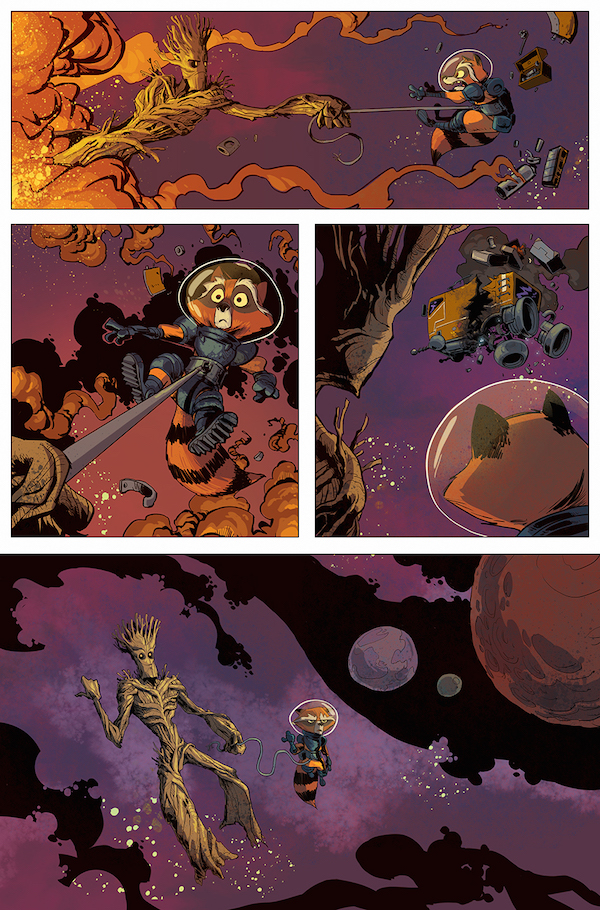 Groot's Latest Adventure Will Separate Him From Rocket Raccoon #32789
