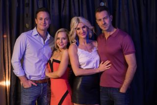 Darren, Luke Morgan, Cindy Cunningham and Mandy in Hollyoaks
