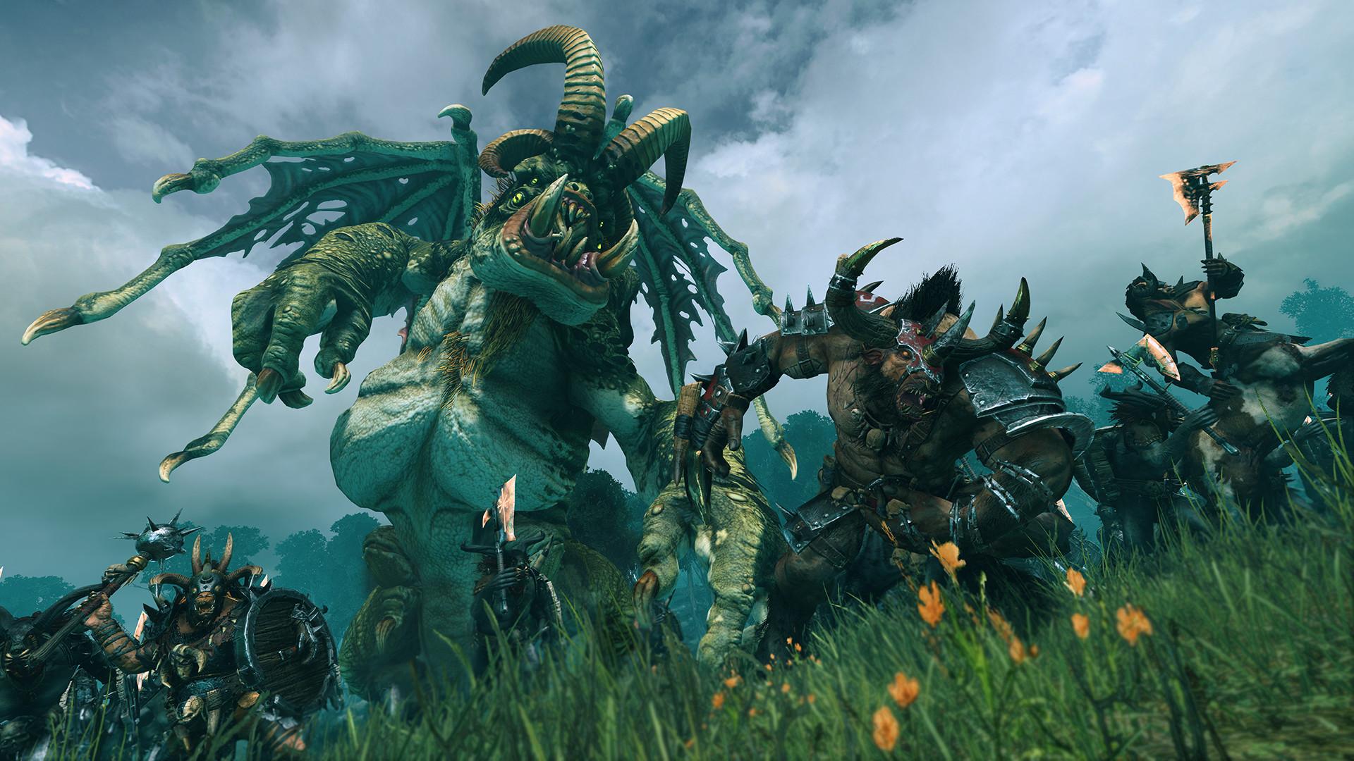 A Jabberslythe monster from Total War Warhammer 2