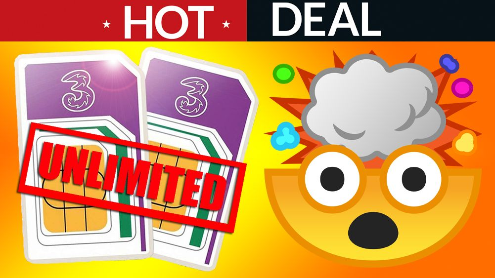 Unlimited EVERYTHING Three SIM only deal is MIND-BREAKINGLY cheap