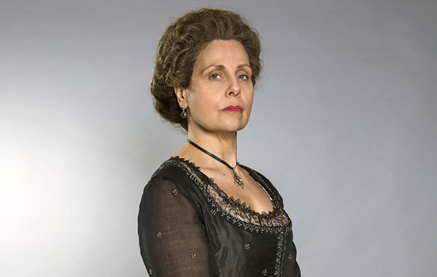 Lady Whitwoth (played by Rebecca Front) causes trouble