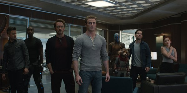 Hawkeye War Machine Iron Man Captain America Nebula Rocket Ant-Man Black Widow in Avengers Endgame