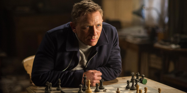 James Bond playing chess in SPECTRE