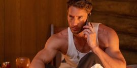 Justin Hartley Rocking Impressive Mustache, Does Not Resemble This Is Us Character, In New Movie The Exchange