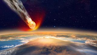 Un astéroïde se consume en atteignant l'atmosphère terrestre avant impact sur l'océan