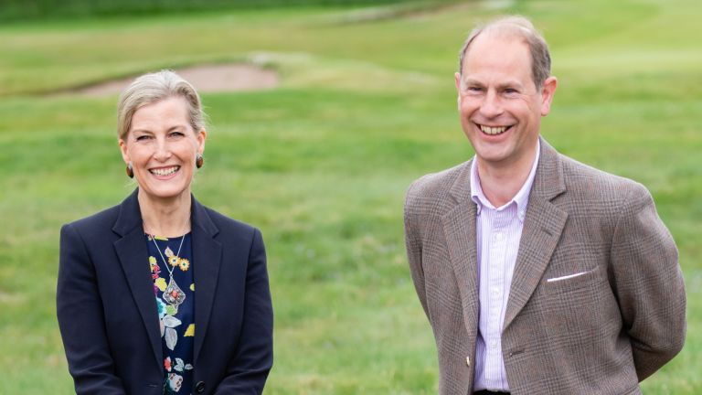 Sophie Wessex and Prince Edward visit Forfar Golf Club
