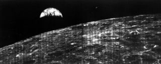 First photo of Earth from the Moon