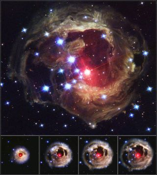 Outburst of V838 Monocerotis