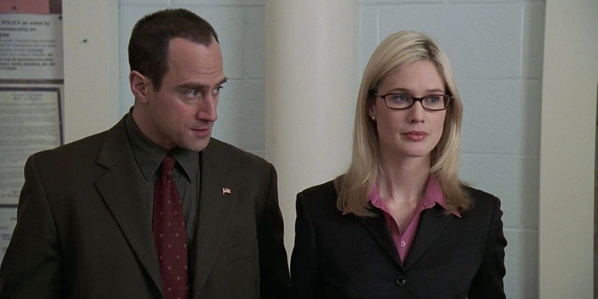 Christopher Meloni and Stephanie March on Law and Order: SVU