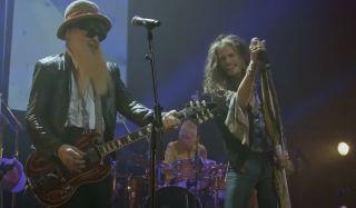 Billy Gibbons (left) and Steven Tyler
