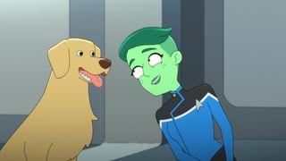 Tendi and The Dog in 'Star Trek: Lower Decks'