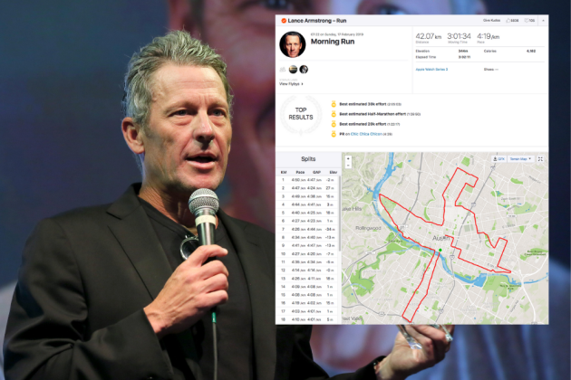 Lance Armstrong runs Austin Marathon as 'charity chaser' in attempt to help raise over one million dollars