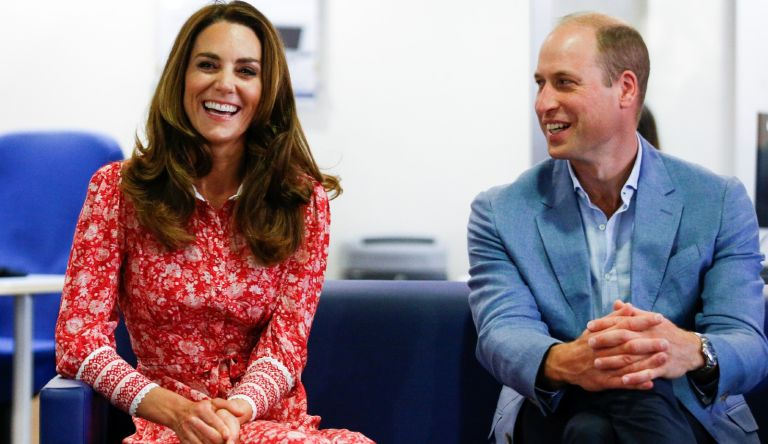 SEPTEMBER 15: Prince William, Duke of Cambridge and Catherine, Duchess of Cambridge speak to people looking for work at the London Bridge Jobcentre on September 15, 2020 in London, England.
