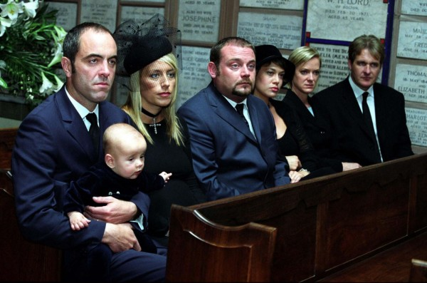The Cold Feet couples attend Rachel's funeral