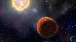 Artist's illustration of HD 21749c, the first Earth-size planet found by NASA's Transiting Exoplanets Survey Satellite, as well as its sibling, HD 21749b, a warm sub-Neptune-sized world.