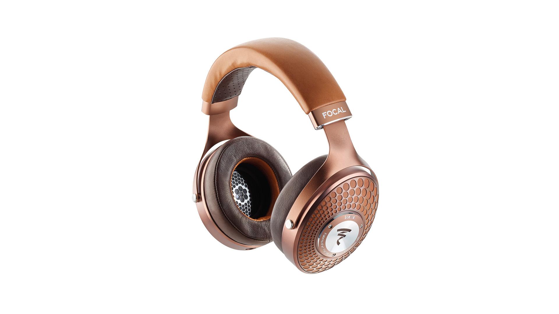 The Focal Stellia headphones in bronze