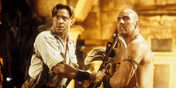 Brendan Fraser and Arnold Vosloo in The Mummy Returns