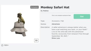 Roblox Monkey Safari Hat how to get