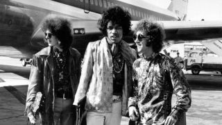 The Jimi Hendrix Experience at London (now Heathrow) Airport