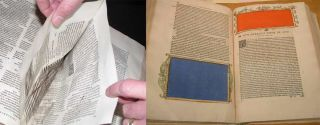 Two 16th-century books by Erasmus, showing two different kinds of censorship.