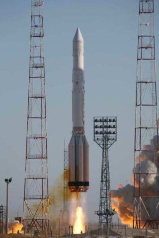 Russian Military Satellite Launched by Proton Rocket