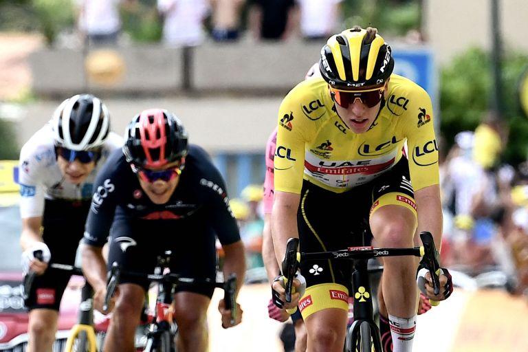 Tadej Pogačar on stage 11 of the Tour de France 2021