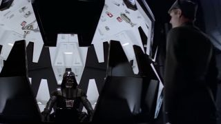 Darth Vader speaking with Imperial officer in The Empire Strikes Back
